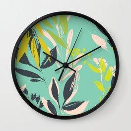 Tropical delight: fresh botanical pattern Wall Clock