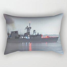 Warship Weighs Anchor Rectangular Pillow