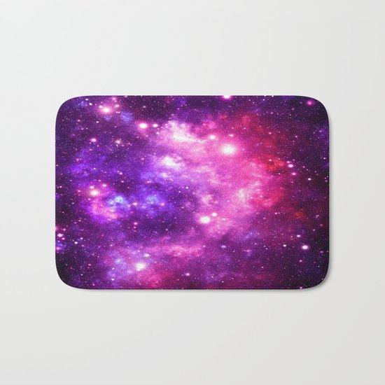 Purple Pink Galaxy Nebula Bath Mat