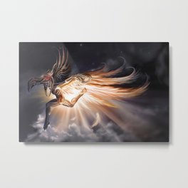 Raven, The Inuit Trickster God Metal Print