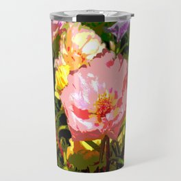 Flowers Bathing in the Sun Travel Mug