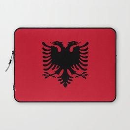flag of Albania Laptop Sleeve
