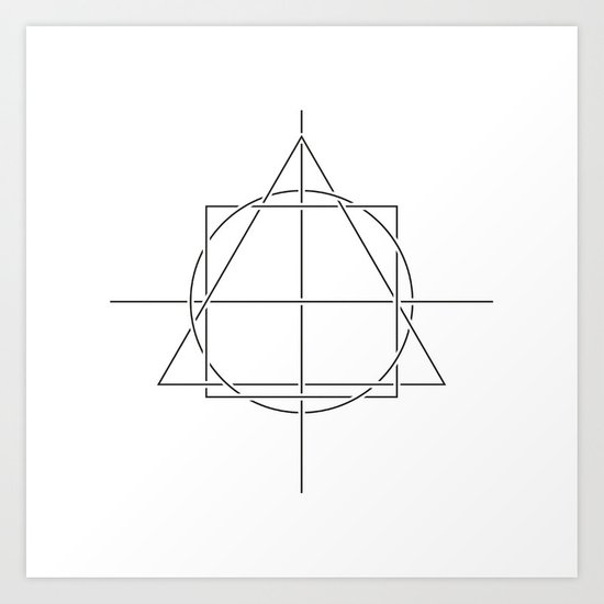 #398 All is one – Geometry Daily Art Print
