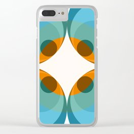 Abstract Retro Flower Cockatrice Clear iPhone Case
