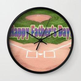 Happy Father's Day Baseball Wall Clock