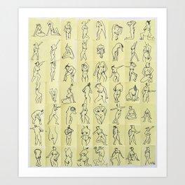 Naked ladies Art Print