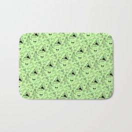 Cryptid Pattern: Black on Green Bath Mat