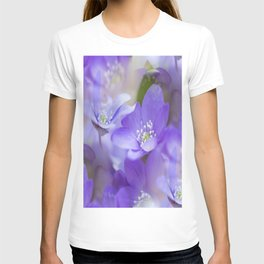 Violet Wild Flowers In Forest #decor #society6 #buyart T-shirt