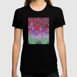 red sky iris garden T-shirt