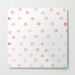 Watercolor Polka-dot Pattern Metal Print