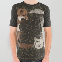 Foxes All Over Graphic Tee