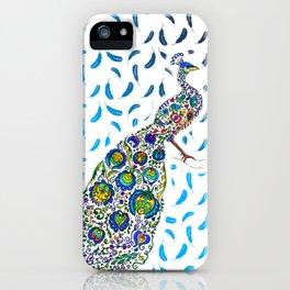 Flowery Peacock iPhone Case
