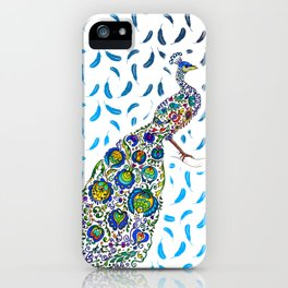 Flowery Peacock iPhone Case
