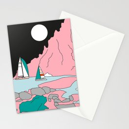 Luna llena en Aries Stationery Cards