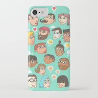 emoji iPhone & iPod Cases featuring emoji talk by Hugo Lucas