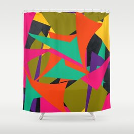 ALL OVER THE PLACE Shower Curtain