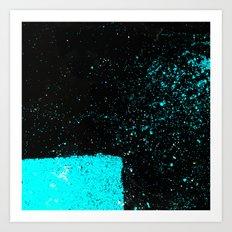 Black & Blue Art Print