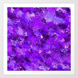 Fractured Blue-Violet Texture Art Print