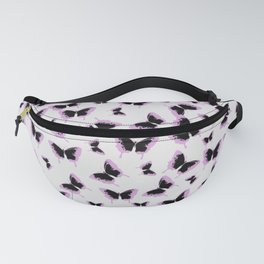 Black and pink butterflies Fanny Pack