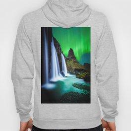 Aurora Borealis Waterfall Hoody