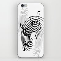 music notes iPhone & iPod Skins featuring Music Notes by Svetlana Sewell