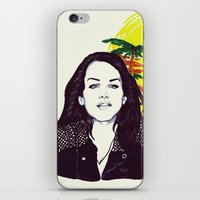 ultraviolence iPhone & iPod Skins featuring THE ULTRAVIOLENCE GIRL by Robert Red ART