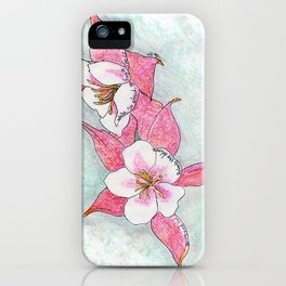 Red Columbines iPhone Case