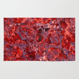 Marble Ruby Sapphire Violet Rug