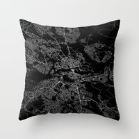 stockholm Throw Pillows featuring Stockholm  by Line Line Lines