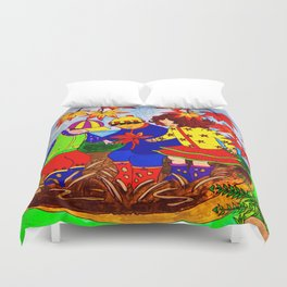 Splashy Puddle Jumpers Duvet Cover