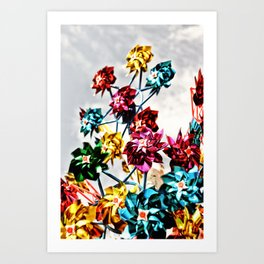 Caught By The Wind Art Print