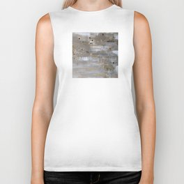 Silver and Gold Abstract Biker Tank