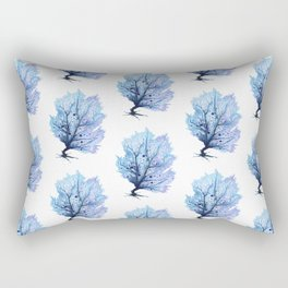 Fan Coral - Blue Rectangular Pillow