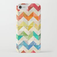 quilt iPhone & iPod Cases featuring Chevron Rainbow Quilt by Rachel Caldwell