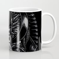 xenomorph Mugs featuring The Passenger by Fuacka