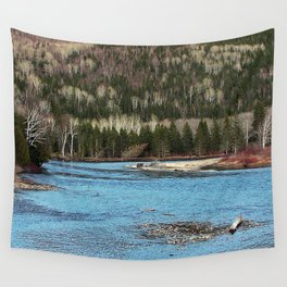 Sparkling River in Spring Wall Tapestry