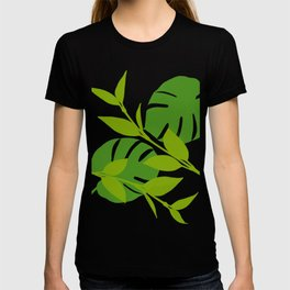 Simply Tropical Leaves with White background T-shirt