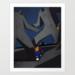 Leo and the monsters Art Print