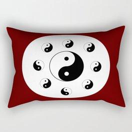 Yin and Yang 13 - Tao,Zen,Taoism,Dao,Harmony,religion,buddhism,buddhist,taijitu,taiji,taoist,china Rectangular Pillow
