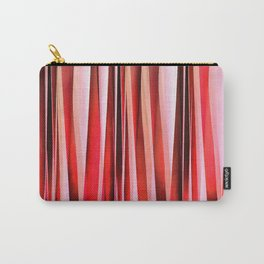 Red Adventure Striped Abstract Pattern Carry-All Pouch