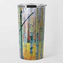 Aspen Trees in the Fall Travel Mug