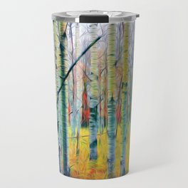 Aspen Trees in the Fall Travel Mug