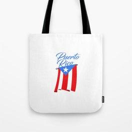 Big Puerto Rico Flag Tote Bag