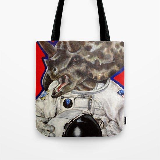 Prehistoric Astronaut Tote Bag