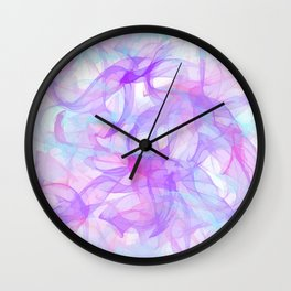 Soft Veils Of Color Abstract Wall Clock