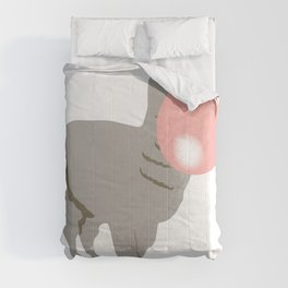 Bubble Gum Llama Blowing Bubble Comforters