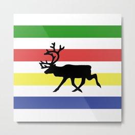 Metis Caribou Metal Print