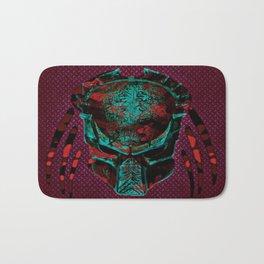 Soldier Predator Red Teal Bath Mat