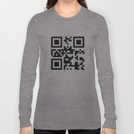 Creative pattern in the style of qr code Long Sleeve T-shirt
