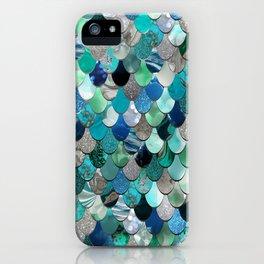 Mermaid Scales, Teal, Green, Aqua, Blue iPhone Case